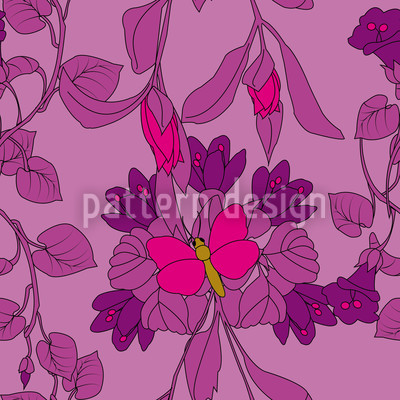 Das Schmetterlingshaus Nahtloses Vektor Muster