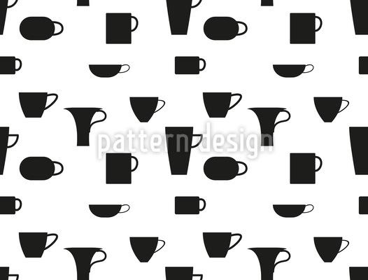 Kleine und große Tassen Nahtloses Vektor Muster