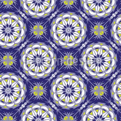Mandala-Raster Rapportiertes Design