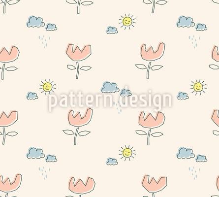 Fliegende Blümchen Muster Design