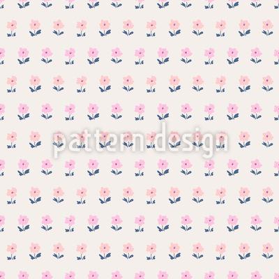 Skizzierte Blumenwiese Nahtloses Vektor Muster
