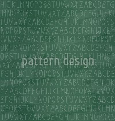 Alphabet Auf Tafel Rapportiertes Design