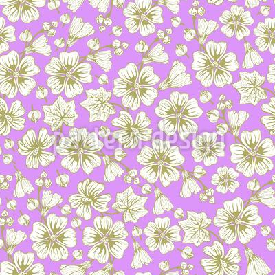 Malvenblüten Kimono Vektor Muster