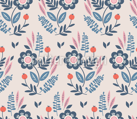 Botanische Komposition Muster Design