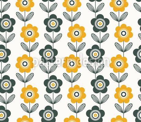 Aufgefädelte Blüten Designmuster