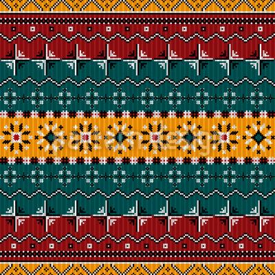 Estilo dos Balcãs Design de padrão vetorial sem costura