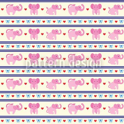 Pink Elephants Seamless Pattern
