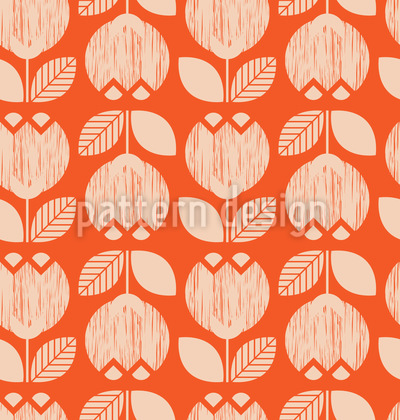 Retro Tulpen Nahtloses Muster