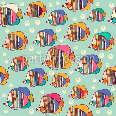 Kaiserfisch Nahtloses Vektor Muster