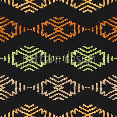 Von Zickzag Und Rauten Vektor Muster