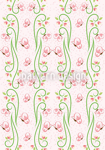 Butterfly Visit Mirrored Pattern Design