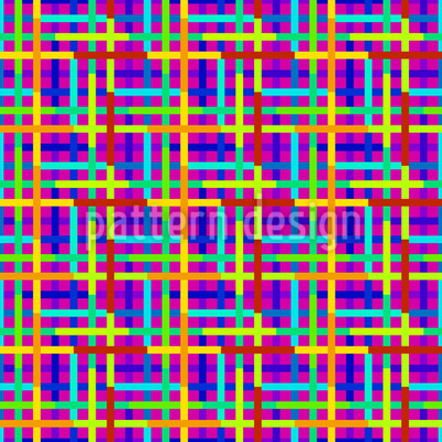 Digitale Welt-Farben Nahtloses Vektor Muster