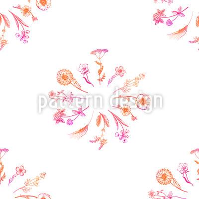 Wildblumensträuße Vektor Ornament