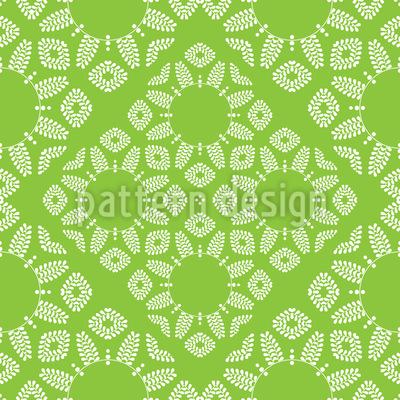 Dekorative Blätter Nahtloses Vektor Muster