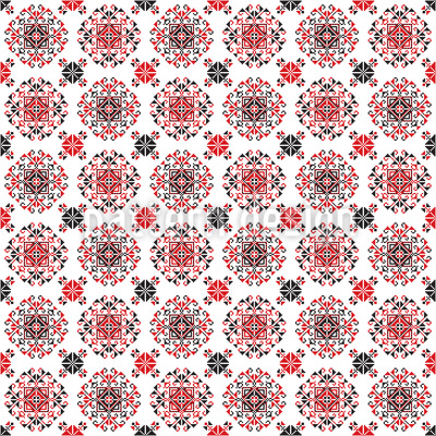 Mandalas Romenas tradicionais Design de padrão vetorial sem costura