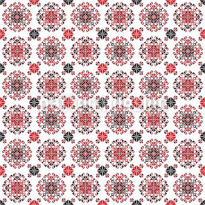 Traditionelle rumänische Mandalas Vektor Muster