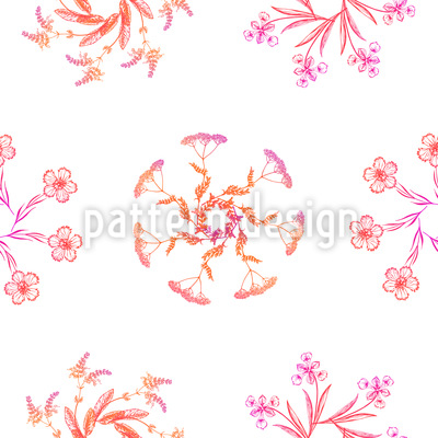 Wildblumen Kränze Muster Design