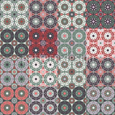 Bewegte Farben Nahtloses Vektor Muster