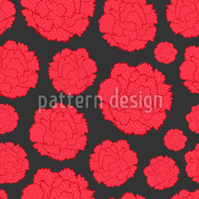 Nelken mit Tupfen Muster Design