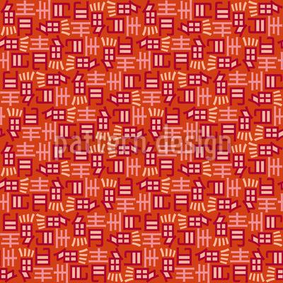 Japanische Schriftzeichen Muster Design