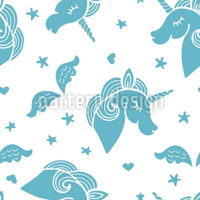 Unicorns With Stars Seamless Vector Pattern Design