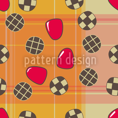 Toffee Fee Seamless Vector Pattern Design