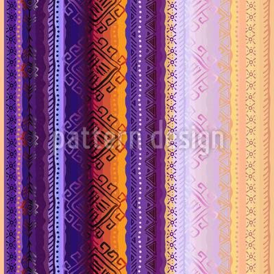 Vertikal Tribal Ornament Vektor Design