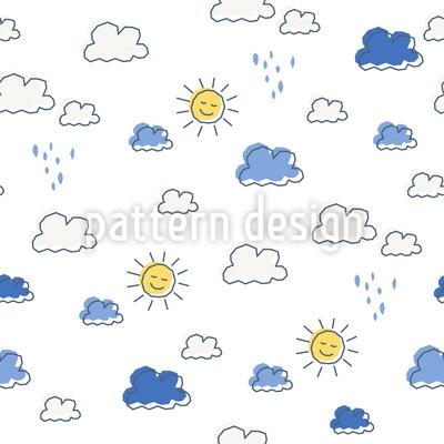 Sonnig und Regnerisch Musterdesign