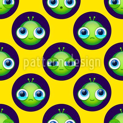 Aliens também têm sentimentos Design de padrão vetorial sem costura