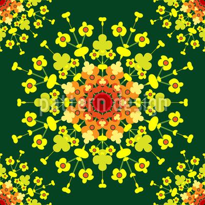 Eine Florale Explosion Musterdesign