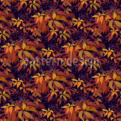 Autumn Grape Vine Seamless Pattern