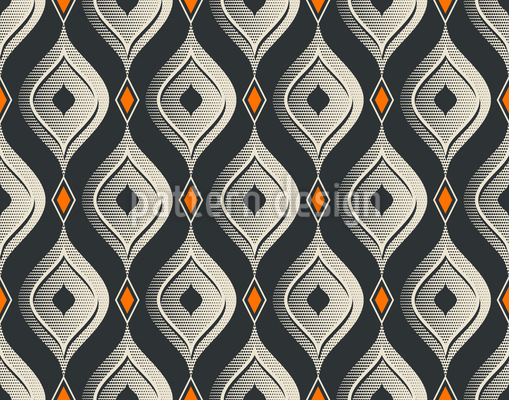 Vintage Refined Curtains Seamless Vector Pattern Design