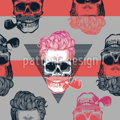 Grungy Totenschädel Musterdesign