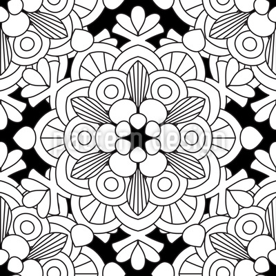 Floral Looking Mandala Vector Ornament