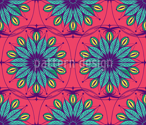 Stilisierte verzierte Blumen Muster Design