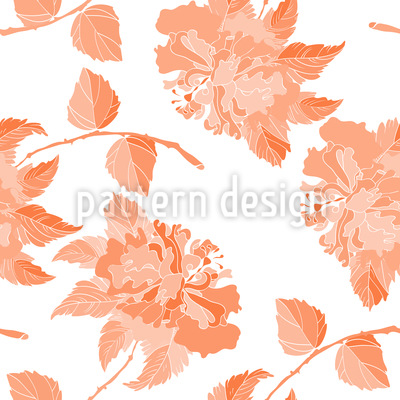 Hibiscus in Bloom Vector Ornament
