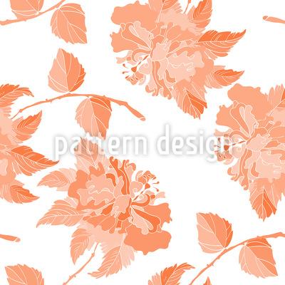 Hibiskus in Blüte Vektor Ornament