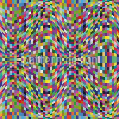 Ondas Mosaico Loucas Design de padrão vetorial sem costura