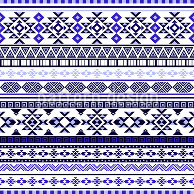Ethnic Bordure Seamless Pattern