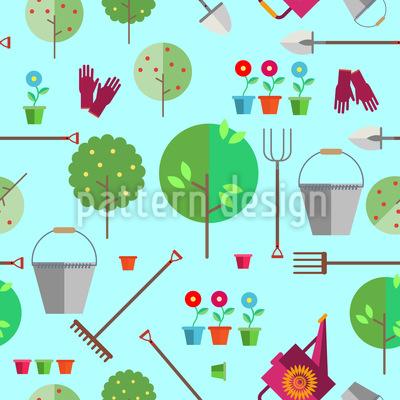 Landwirtschaft oder Gartenbau Vektor Muster