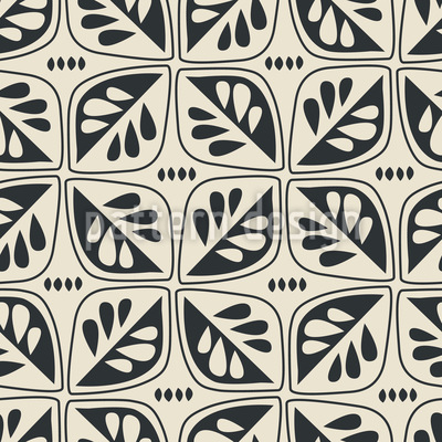 Retro-Blätter Musterdesign