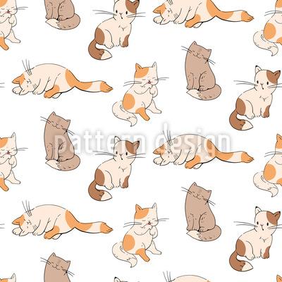 Katzenbabys Nahtloses Muster