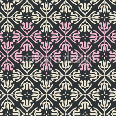 Abstraktes florales Raster Nahtloses Vektor Muster