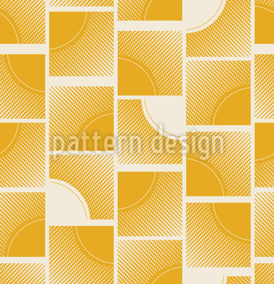 Sunny ornate squares Repeat Pattern