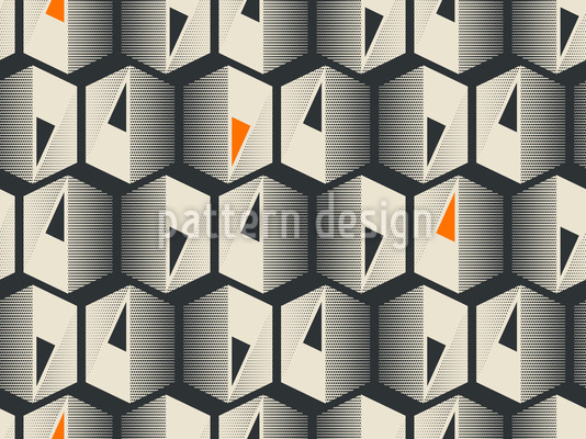Ornate hexagons Design Pattern
