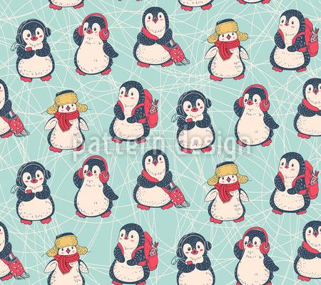 Süße Pinguine Rapportiertes Design