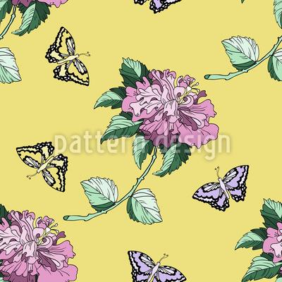 Im blühenden Garten Nahtloses Muster