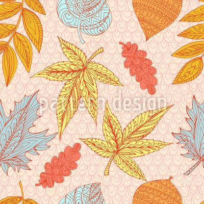 Fliegende Blätter Muster Design
