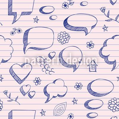 Sprechblasen Auf Papier Rapportmuster