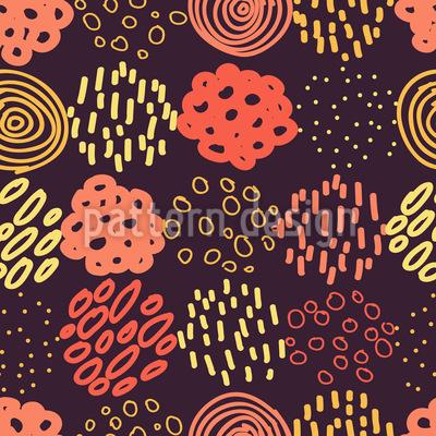 Gekrizelte Formen Muster Design